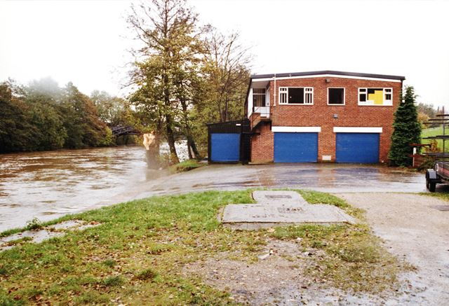 Derby Rowing Club during floods