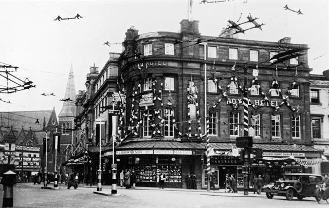 Royal Hotel, junction of Cornmarket and Victoria Street