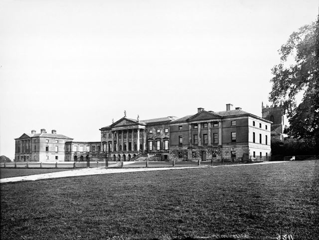 Kedleston Hall from the north west.
