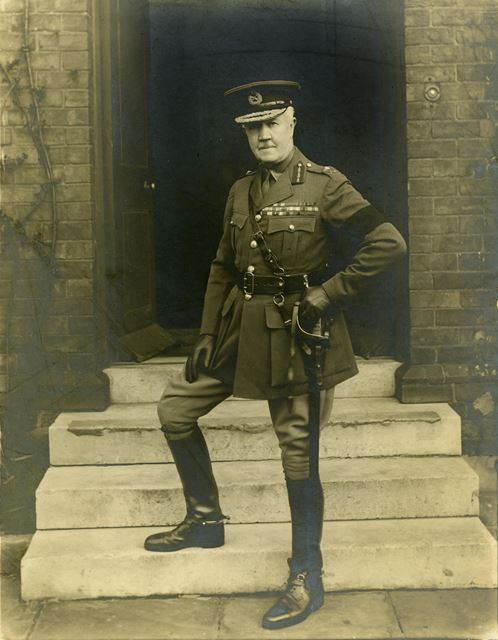 Major-General Sir Frederick Maurice KCMG CB. Colonel of the Sherwood Foresters, at Normanton Barrack