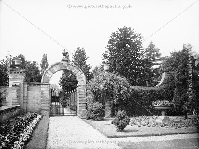 West archway in top garden, Locko Park