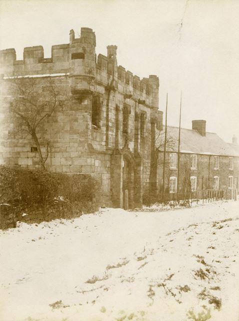 Mackworth Castle in the snow