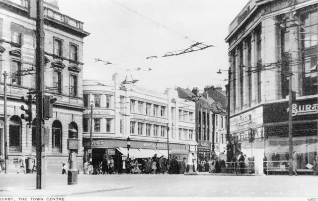 'Derby Town Centre' - St Peter's Street looking from the junction with Albert Street, Victoria Stree