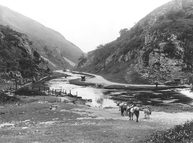 Stepping Stones, Dovedale, c 1930