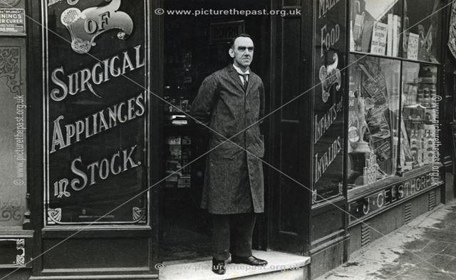 Mr Gilbert Harry Hickingbotham, Gelsthorpe Chemist and Dentist, High Street, Long Eaton, c 1935