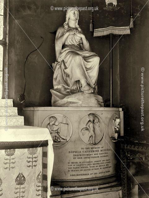 Monument to Mrs Sophia Catherine Musters, St JOhn the Baptist Church, Colwick, Nottingham, c 1900