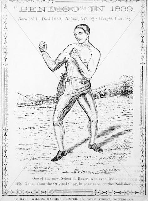 William Thompson, aka Bendigo, Nottingham, 1839