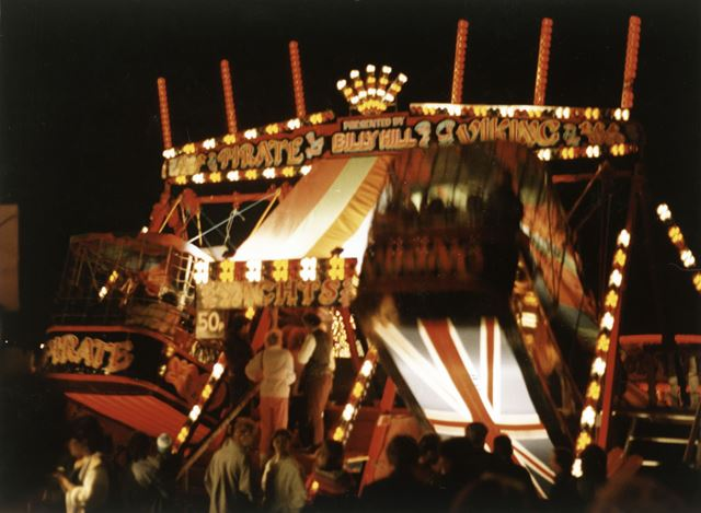 Swing Boats, Goose Fair, Forest Recreation Ground, Hyson Green, Nottingham, 1984