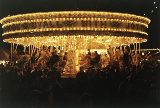 The Gallopers, Goose Fair, Forest Recreation Ground, Hyson Green, Nottingham, 1984