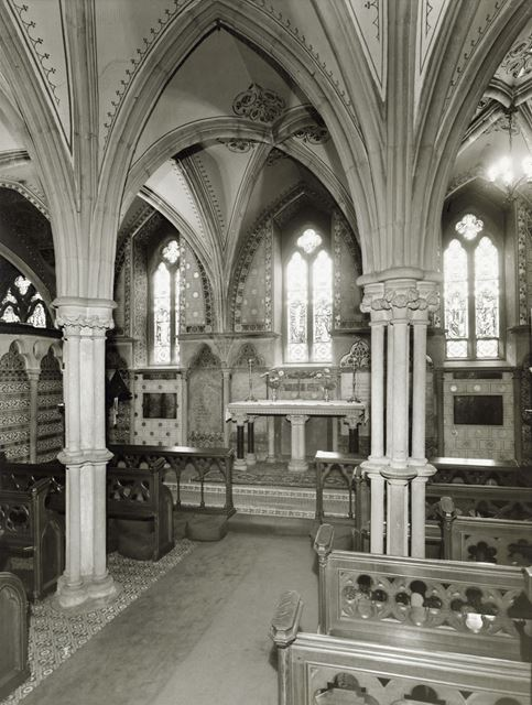 Interior of Newstead Abbey Chapel, Newstead Abbey, 1964