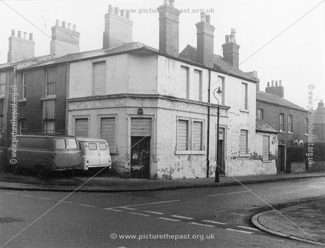 The former Lord Belper Inn (Robin Hood Arms), Robin Hood Street, St Anns, Nottingham, 1966