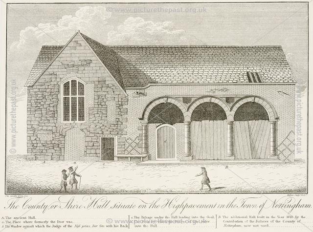 Shire Hall, High Pavement, Lace Market, Nottingham, 1741