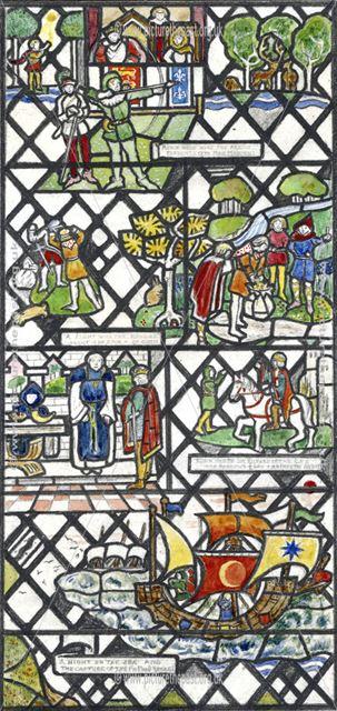 The Life of Robin Hood, Window Design, 1931