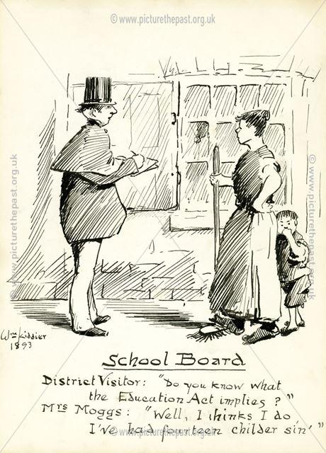 Drawing entitled 'School Board', 1893