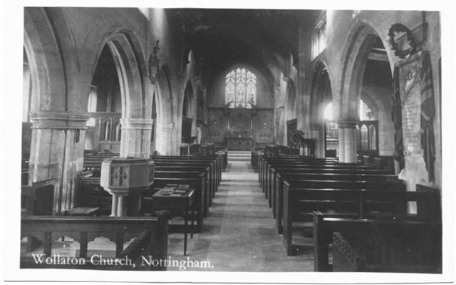 St Leonard's Church, Wollaton -interior