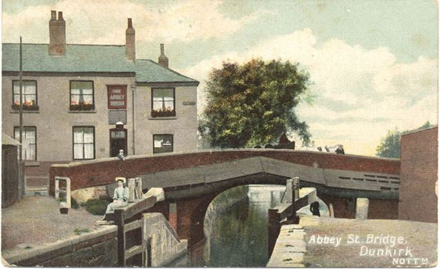Canal Bridge, Abbey Street, Dunkirk, Nottingham, c 1900s