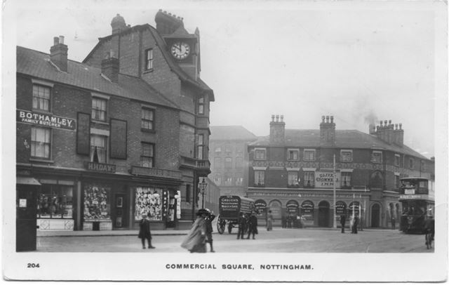 Commercial Square on St Ann's Well Road, Nottingham, 1900-1910s