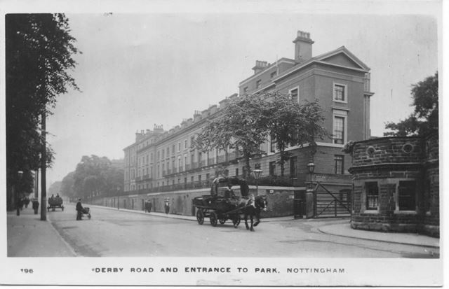 Derby Road and Entrance to The Park, Nottingham, 1900s