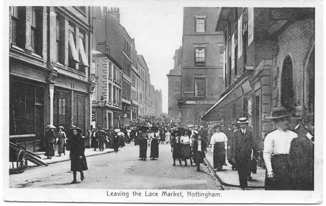 Leaving the Lace Market, Stoney Street, Lace Market, Nottingham, c 1900s