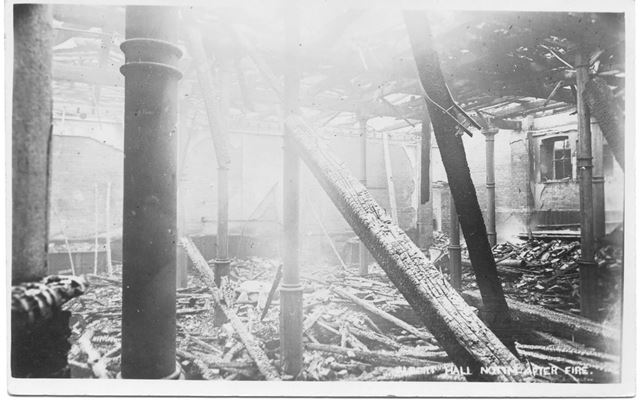 Albert Hall after fire 22nd April 1906
