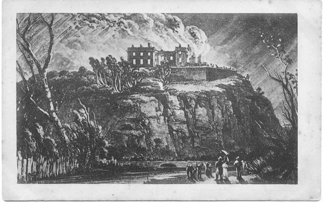 Nottingham Castle on Fire, Oct 1831