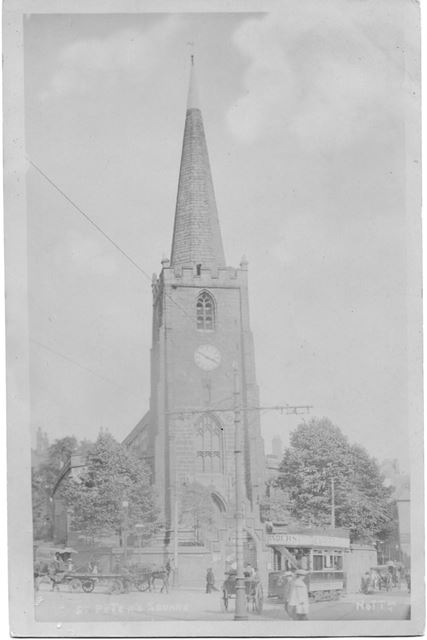 St Peter's Church from Wheeler Gate