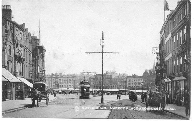 'Nottingham - Market Place from Derby Road'