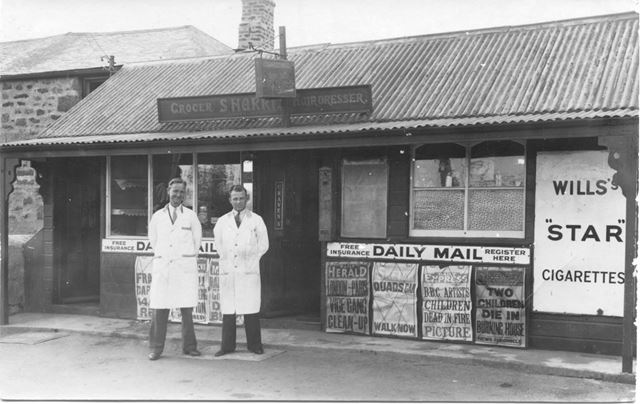 S. Harris Grocer and Hairdressers, Bulwell, Nottingham, c 1920s
