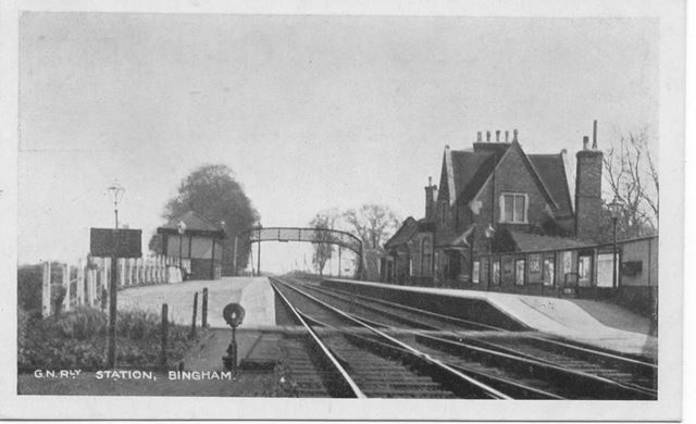 Great Northern Railway (GNR) Station, Station Street, Bingham, Early 20th Century