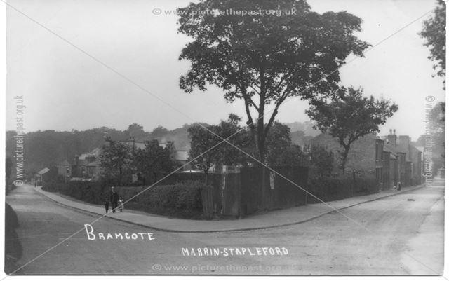 Town Street-Church Street corner,  Bramcote