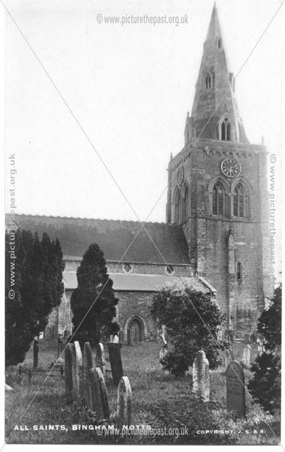 St. Mary and All Saints Parish Church and Churchyard, East Street, Bingham