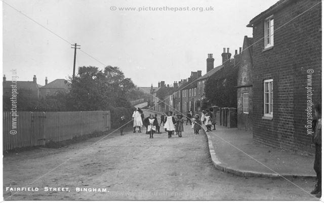 Children Walking on Fairfield Street, Bingham, c1900