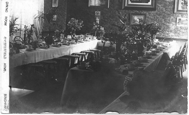 Dining Room, Chesterfield Arms, Church Street, Bingham