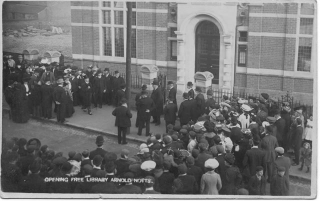 Opening of Arnold Free Library