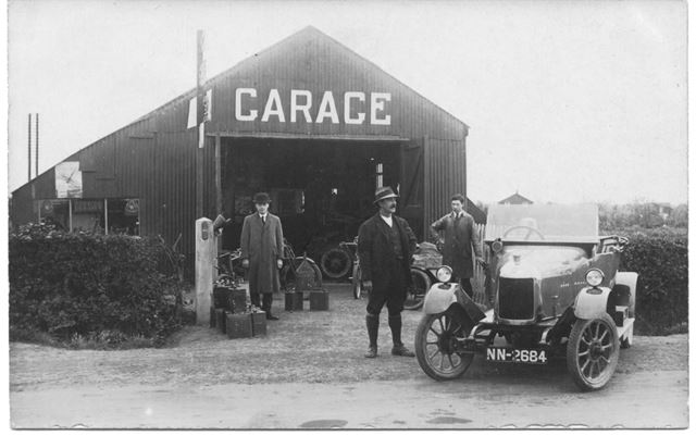 Garage and car