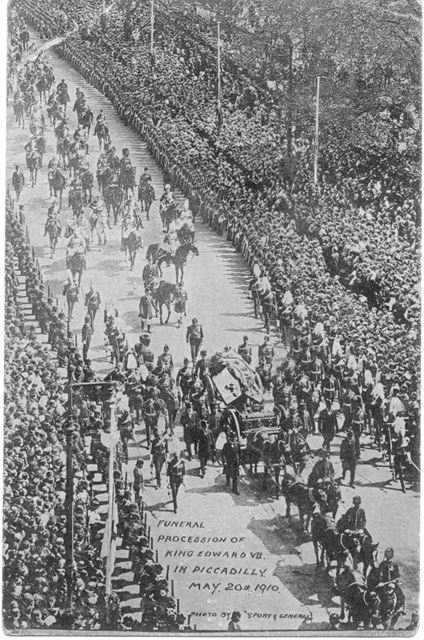 Funeral procession of King Edward VII in Picadilly, London, 1910