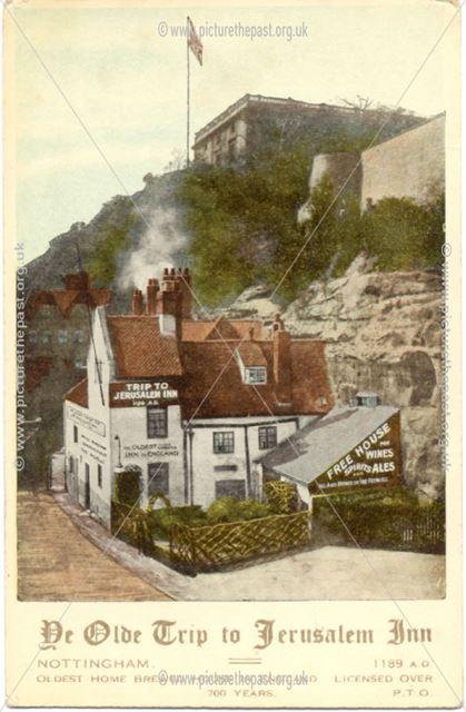 Ye Olde Trip to Jerusalem Inn and Nottingham Castle