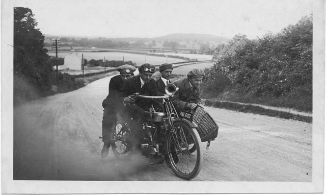 Campion Brothers motor cycle