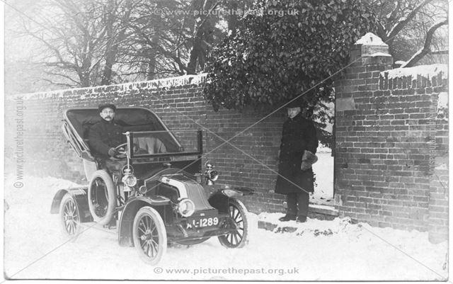 Motor car in snow