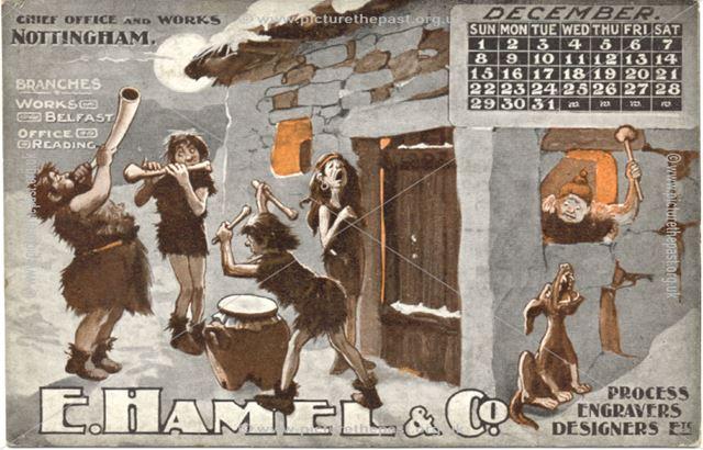 Calendar E. Hamel and Co, Dec 1907