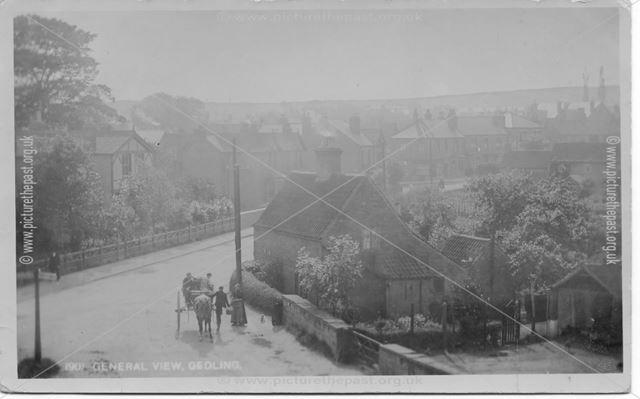 General View from Wood Lane, Gedling, c 1910s