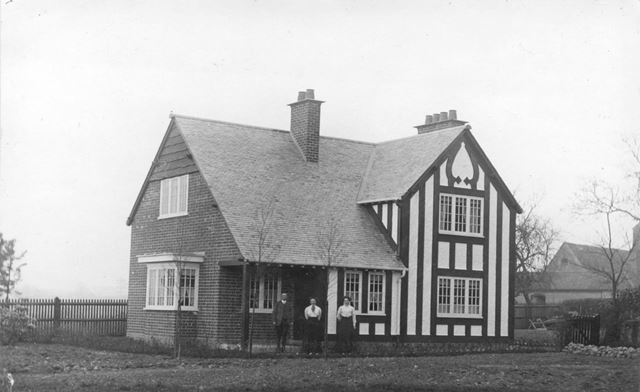 Unidentified House, including timber and stucco decoration. Early C20th.
