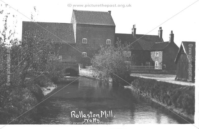 Rolleston Mill, near Station Road, Rolleston, c 1910s