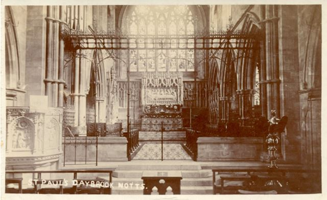 Interior of St. Paul's Church, Mansfield Road, Daybrook, Arnold, c 1900s