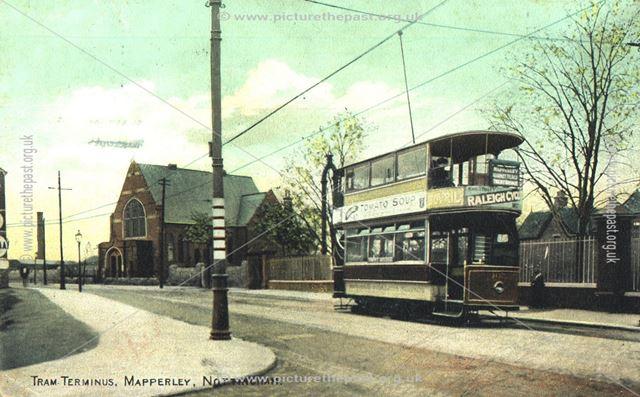 Tram Terminus,  Mapperley, Nottingham, c 1900s