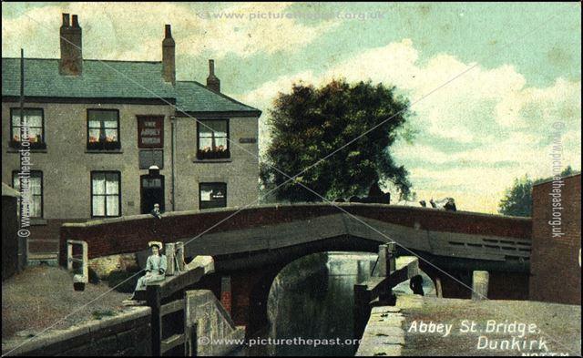 Canal Bridge, Abbey Street, Dunkirk, Nottingham, c 1900s