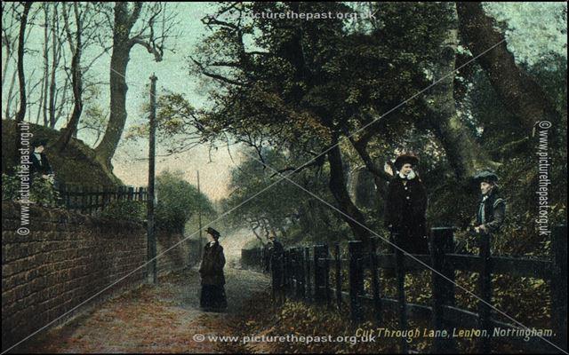 Cut Through Lane, Lenton, Nottingham, c 1910s