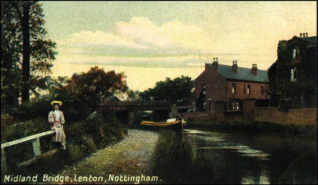 Railway bridge over Nottingham Canal, Lenton, Nottingham, c 1900s-10s