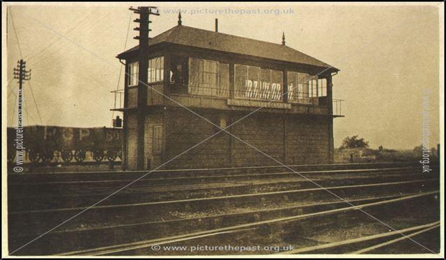 Lenton South Junction Signal Box, Lenton, Nottingham, c 1910s ?