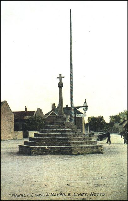 Top Cross, Main Street, Linby, c 1900s